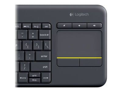 Logitech K400 WLS Touch KB Plus Black (Nordisk)