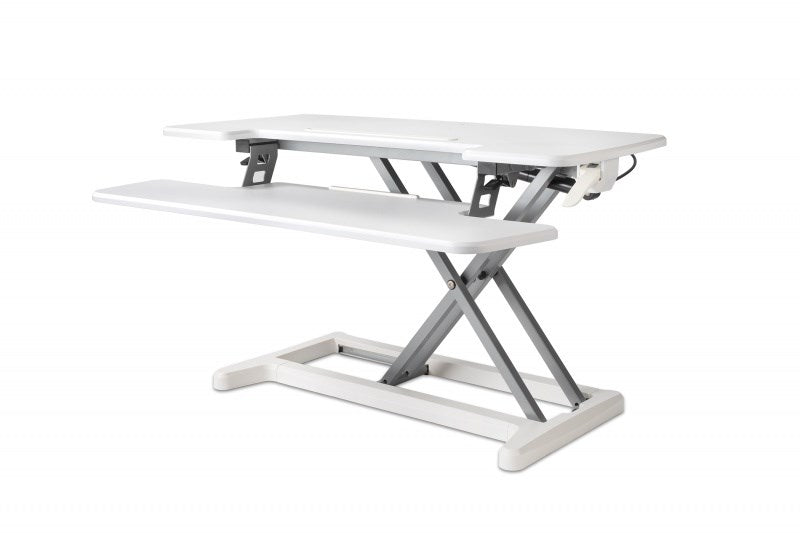 Adjustable Sit-Stand Desk Riser 2, White