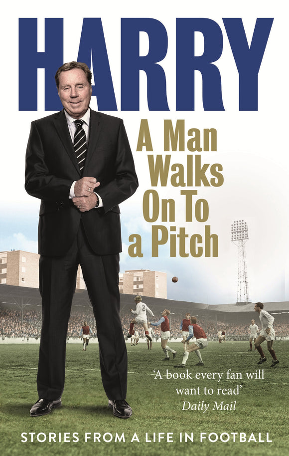 A Man Walks On To a Pitch