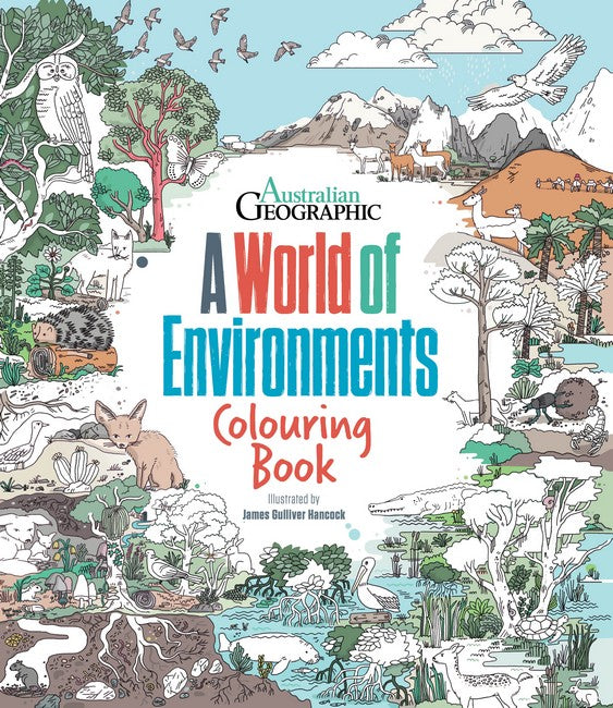 A World Of Environments: Colouring Book