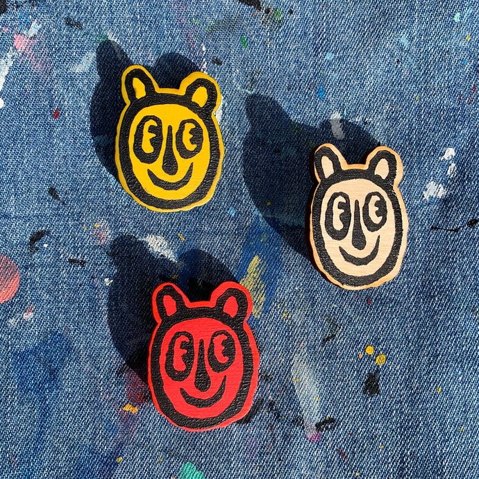 Bear Head Pins // Set of Three // Fruit Twist