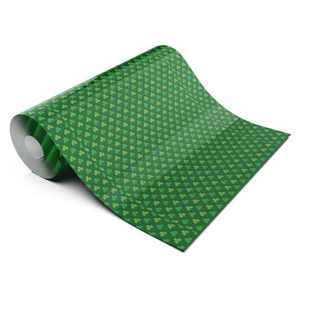 ST PATRICKS GREEN CLOVER LIFESTYLE PATTERN HEAT TRANSFER VINYL