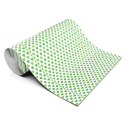 ST PATRICKS WHITE CLOVER LIFESTYLE PATTERN HEAT TRANSFER VINYL
