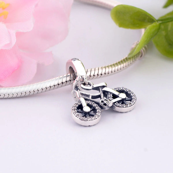 Cycolinks 925 Sterling Silver Bicycle Pendant