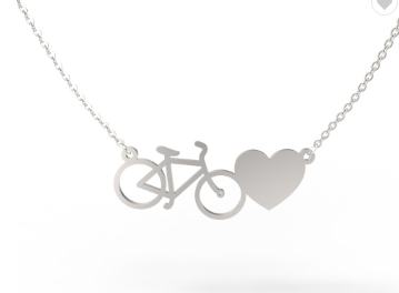 Cycolinks Bicycle Love Necklace