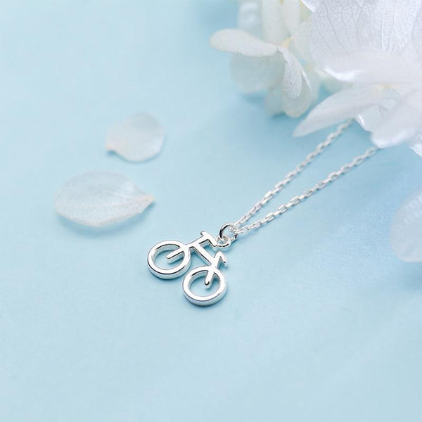 Cycolinks 925 Sterling Silver Bike Bicycle Charm Necklace