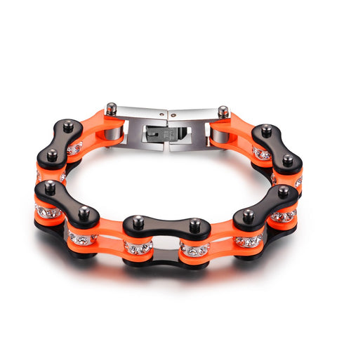 Cycolinks Orange Black Bracelet