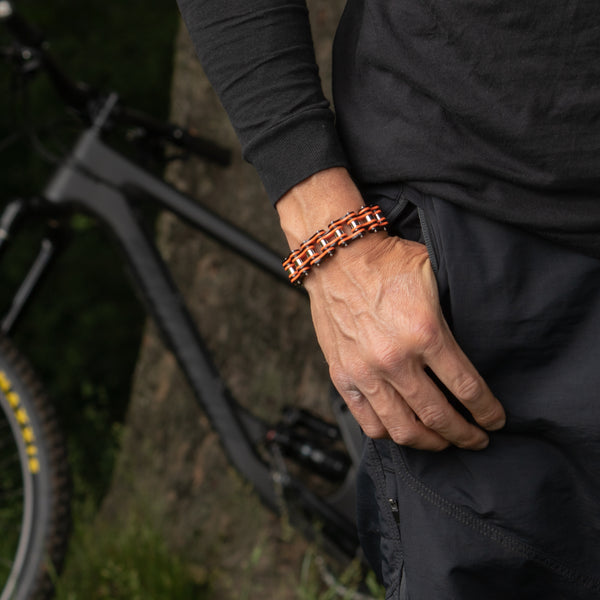 Cycolinks Mens Bike Chain Bracelet perfect for a gift for cyclist