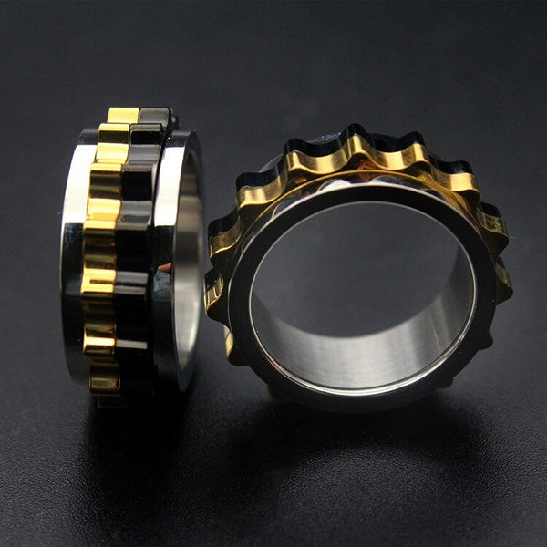 Cycolinks Rotating Titanium Gear Ring Biker Gift