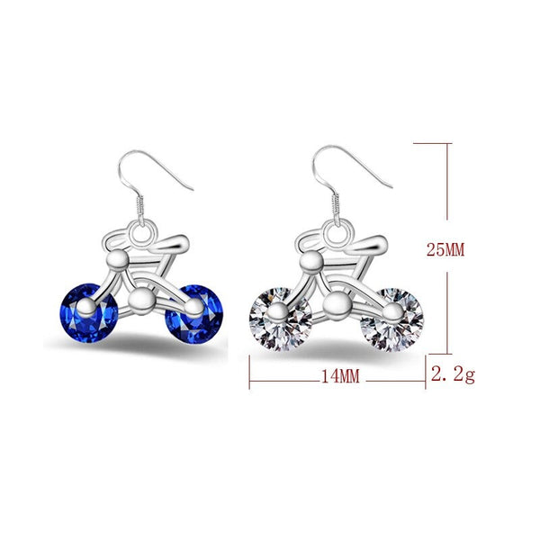 Cycolinks 925 sterling silver & Cubic Zirconia Earrings