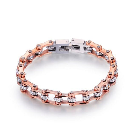 Cycolinks Rose Gold Bike Chain Bracelet FREE Shipping! Perfect for a Gift