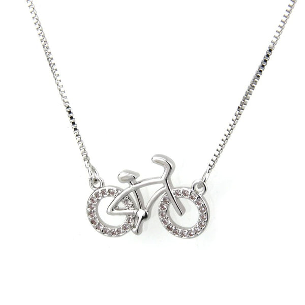 Cycolinks Zirconium Copper Plating Bicycle Necklace