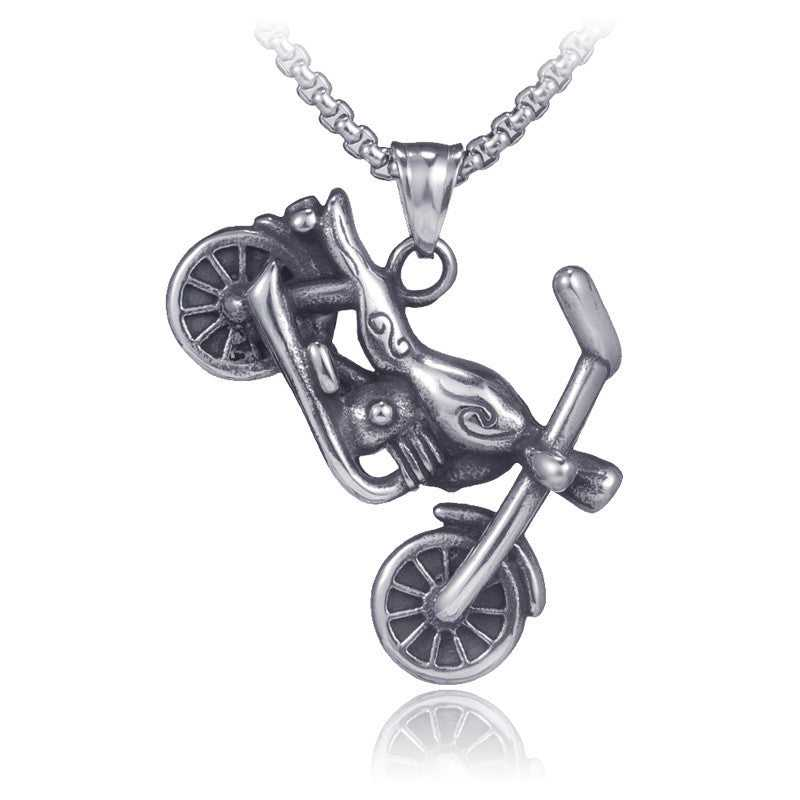 Cycolinks Retro Stainless Steel Motorcycle Necklace - Cycolinks
