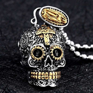Cycolinks Carved Virgin Skull Pendant - Cycolinks