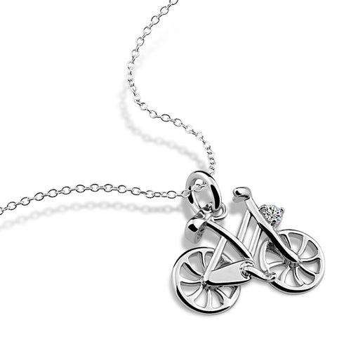 Cycolinks 925 Sterling Silver Bicycle Necklace - Cycolinks