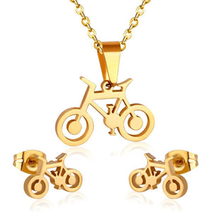Cycolinks Bike Necklace Cuff-link Set - Cycolinks