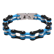 Load image into Gallery viewer, Cycolinks Blue Black Crystal Bracelet - Cycolinks