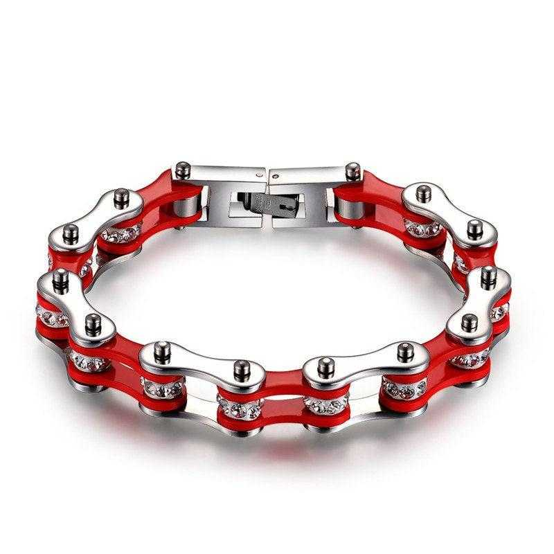 Cycolinks Red/Silver Crystal Bracelet - Cycolinks