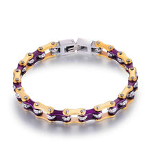 Load image into Gallery viewer, Cycolinks Purple Gold Crystal Bracelet - Cycolinks