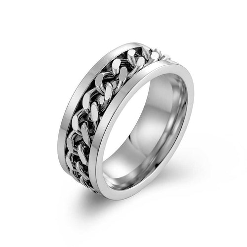 Cycolinks Titanium Steel Chain Spinner Ring - Cycolinks