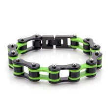 Load image into Gallery viewer, Cycolinks Kawasaki Green Bike Chain Bracelet - Cycolinks
