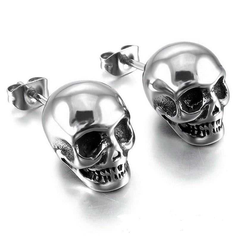 Cycolinks Punk Skull Stud Earrings - Cycolinks