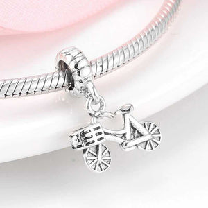 Cycolinks 925 Sterling Silver Bicycle Pendant Charm - Cycolinks