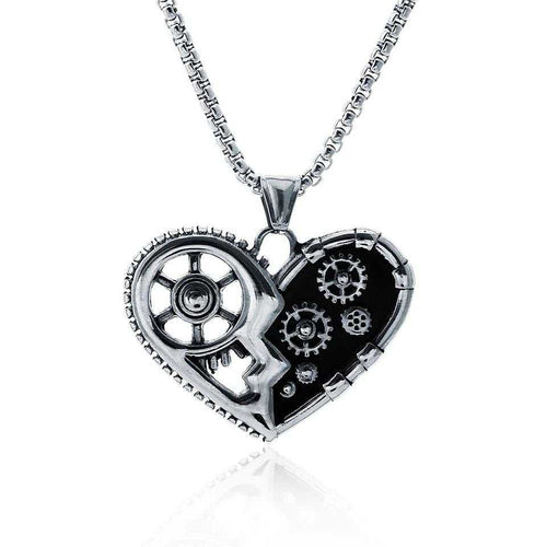 Cycolinks Gear Heart Necklace - Cycolinks
