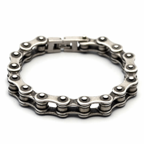 Cycolinks 10mm Retro Rustic Silver Bike Chain Bracelet - Cycolinks