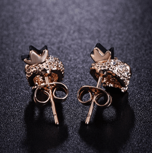 Cycolinks Skull Crown 18k Gold-plated Zircon Earrings - Cycolinks