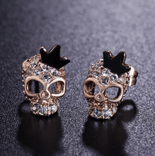 Load image into Gallery viewer, Cycolinks Skull Crown 18k Gold-plated Zircon Earrings - Cycolinks
