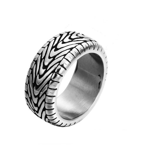 Cycolinks Vintage Punk Motorcycle Tire Ring - Cycolinks