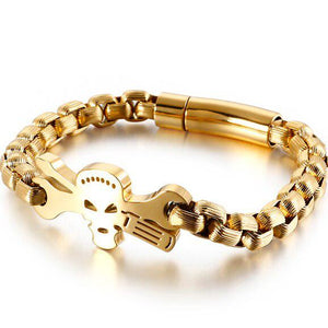 Cycolinks Skull & Driver Chain Bracelet - Cycolinks