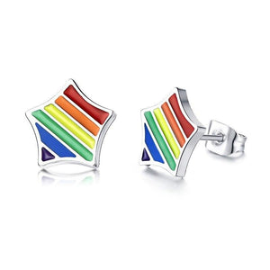 Cycolinks Pride Rainbow Star Earrings - Cycolinks