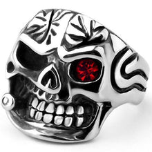 Load image into Gallery viewer, Cycolinks Smoking Skull Head Ring - Cycolinks