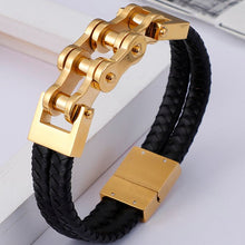 Load image into Gallery viewer, Cycolinks Magnetic Leather Bike Chain Bracelet - Cycolinks