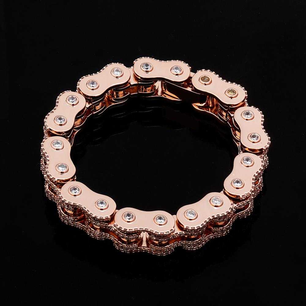 Cycolinks Bling 18mm Cubic Zirconia Bike Chain Bracelet - Cycolinks
