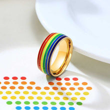 Load image into Gallery viewer, Cycolinks Pride Rainbow Unisex Ring - Cycolinks