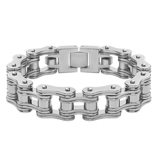 Cycolinks Stealth Silver Bike Chain Bracelet 16mm - Cycolinks