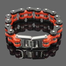 Load image into Gallery viewer, Cycolinks Red/Black Mens Bike Bracelet - Cycolinks