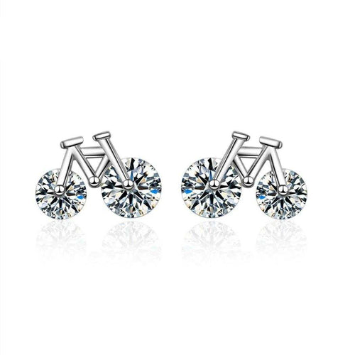 Cycolinks Cubic Zircon Biker Earrings - Cycolinks