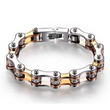 Load image into Gallery viewer, Cycolinks Titanium Gold Crystal Bracelet - Cycolinks