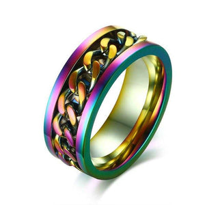 Cycolinks Rainbow Chain Spinner Ring - Cycolinks