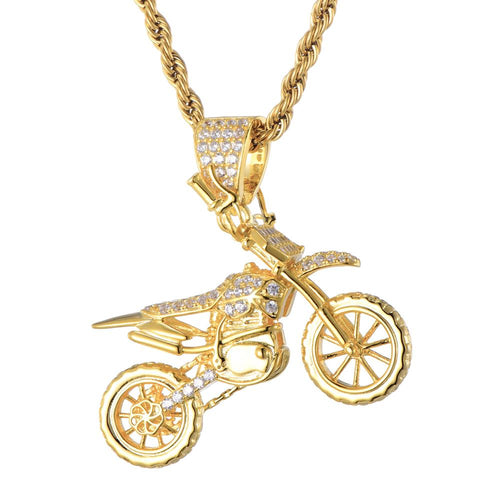 Cycolinks Hip Hop Copper Motorcycle Necklace