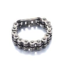 Load image into Gallery viewer, Cycolinks Retro Rustic Silver Bike Chain Bracelet - Cycolinks