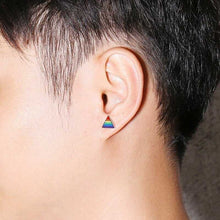 Load image into Gallery viewer, Cycolinks Pride Rainbow Triangle Earrings - Cycolinks