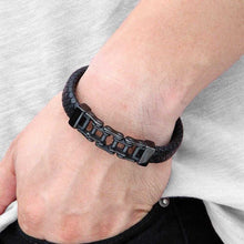 Load image into Gallery viewer, Cycolinks Leather Mini Chain Bracelet - Cycolinks