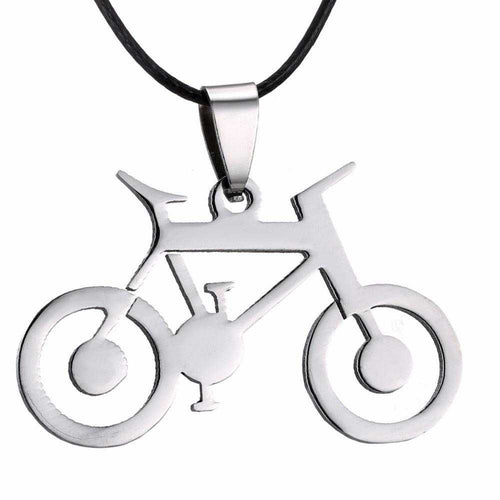 Cycolinks Bike Pendant Mens Necklace - Cycolinks