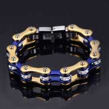 Load image into Gallery viewer, Cycolinks Gold/Candy Blue Crystal Bracelet - Cycolinks
