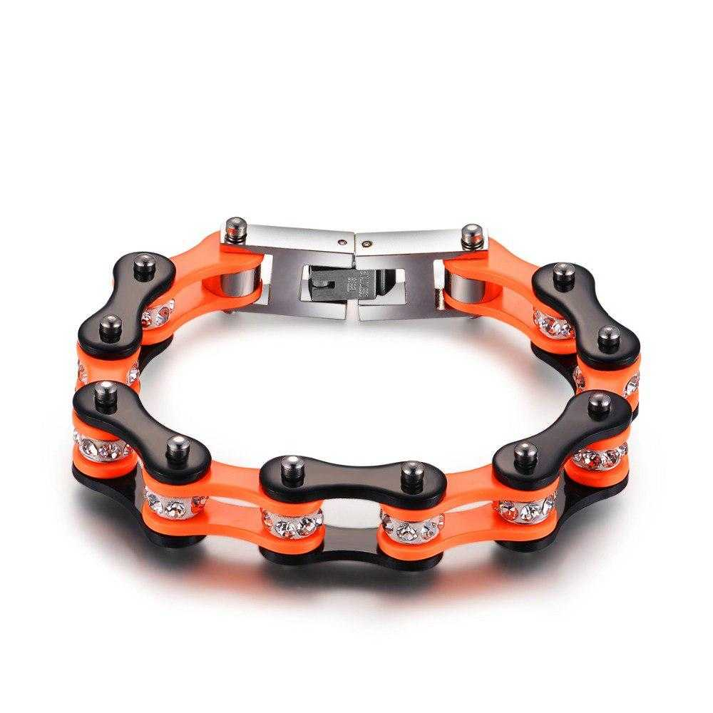 Cycolinks Punk Orange Crystal Bracelet - Cycolinks